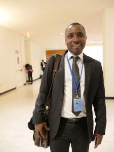 Bukeni Waruzi, WITNESS' Senior Program Manager for Asia and the Middle East at the United Nations, Sept. 25 2014.
