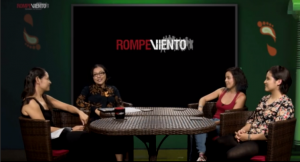 Indira Cornelio (front right) on RompeViento.